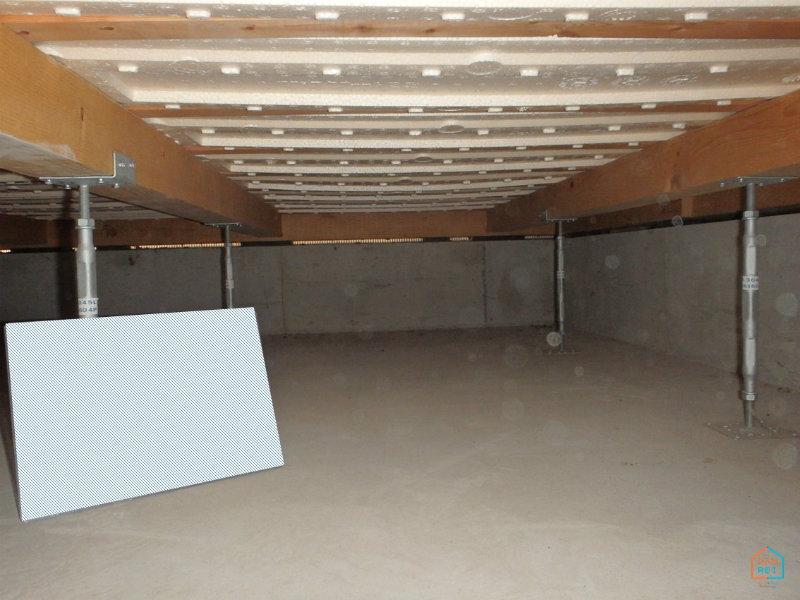 施工前の床下