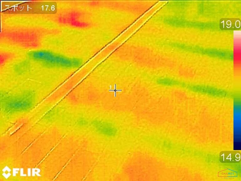 断熱済みの床のサーモ画像