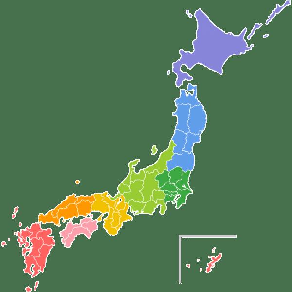 地域分けした日本