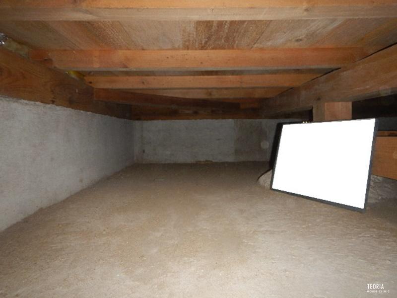 床下グラスウールの施工前
